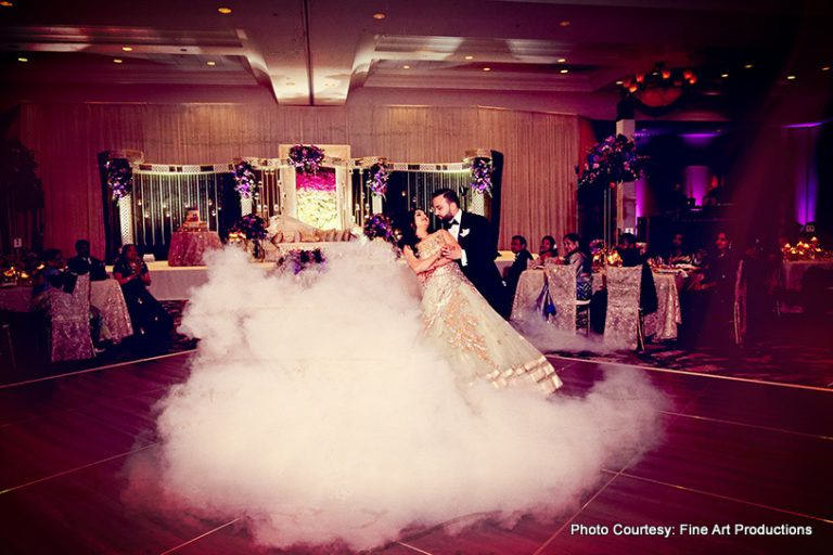 Indian couple dancing