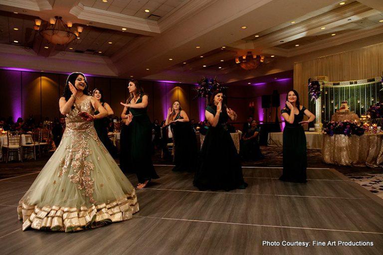 Bridesmaids Dancing At the Reception