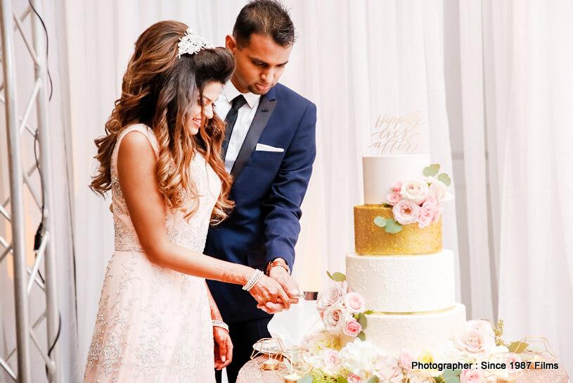 Indian Reception Wedding Cake