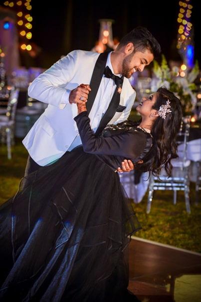 Heartwarming Indian bride and groom's photo.