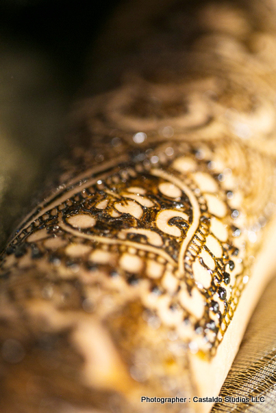 Detailed look of bridal Mehndi