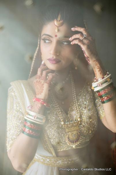 Astonishing bride with heena