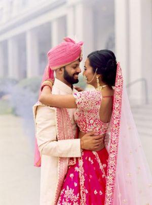 Sweet indian newlyweds photo shoot