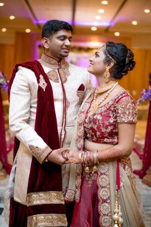 Dreamy Indian couple's portrait.