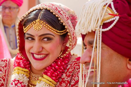 Indian Bride and Groom looking gorgeous