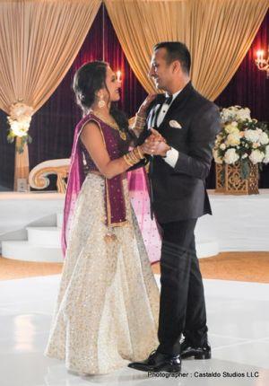 Newly weds doing couple dance