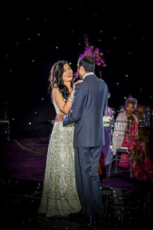 Indian wedding reception first dance