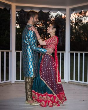 Indian wedding first look at The Gazebo