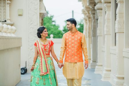 Enchanting indian couple outdoors capture