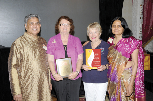 Raj Shah and Aruna Shah, co-publisher of Desh Videsh