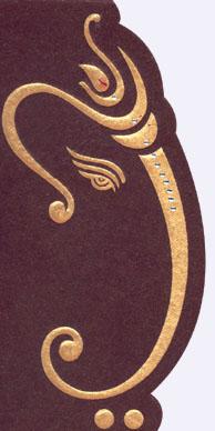 Indian Wedding invitation card - ganesh