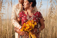 Poornima and Anand in Grass