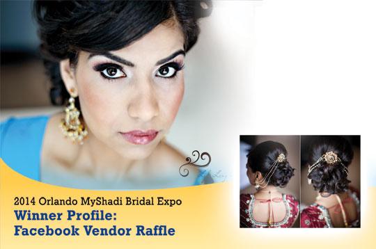 2014 Orlando MyShadi Bridal Expo Winner Profile: Facebook Vendor Raffle