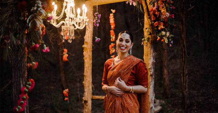 Traditional meets Modern Indian Bridal Session in Nashville, TN