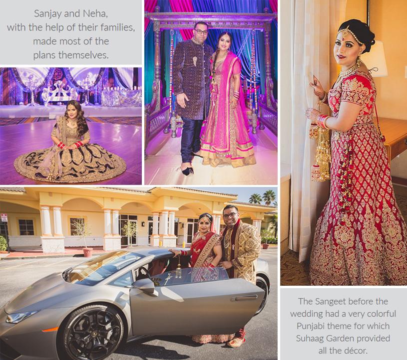 Ceremony of Sangeet, Mahendi, Wedding of Neha and Sanjay