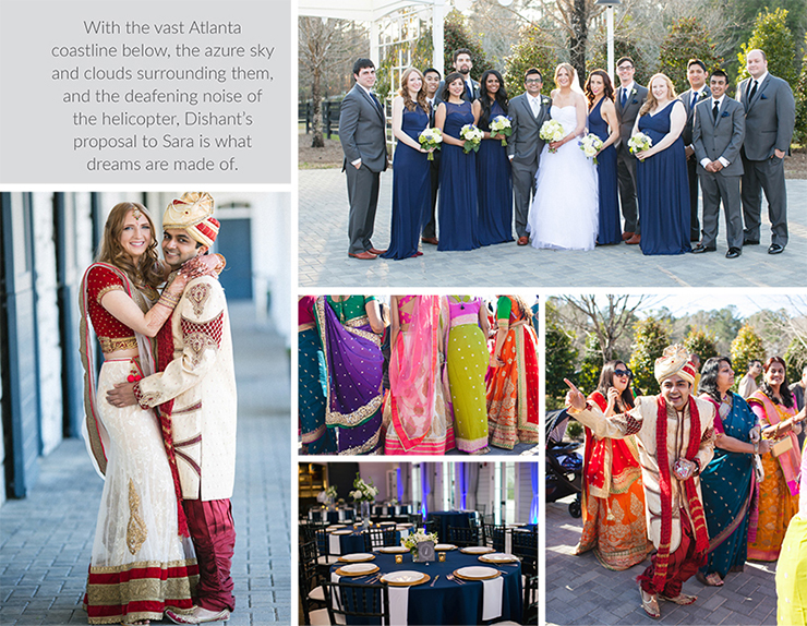 Indian and Western wedding of Dishant Dalal and Sara Gromoll