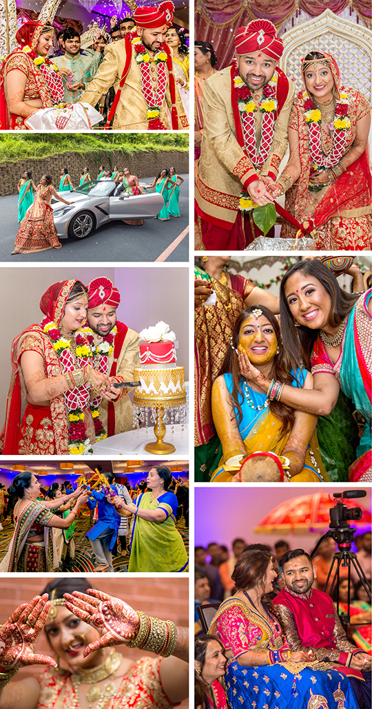Haldi, Garba and Wedding ceremony of Nikita and Mayur