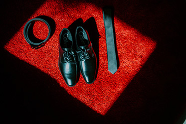 Indian Groom's Shoes, Tie and Belt Photography