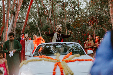 Baraat of Indian Bride