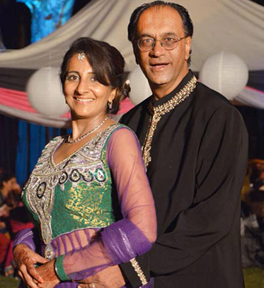 Indian Bride and Groom in Reception Outfit