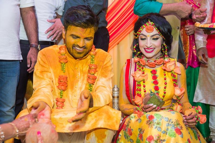 The Haldi Ceremony at a Hindu Wedding
