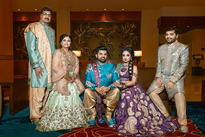 Indian Couple with Family Capture