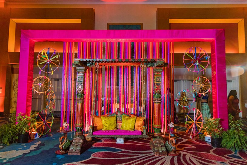 Lovely Indian Wedding Sangeet Event Decoration