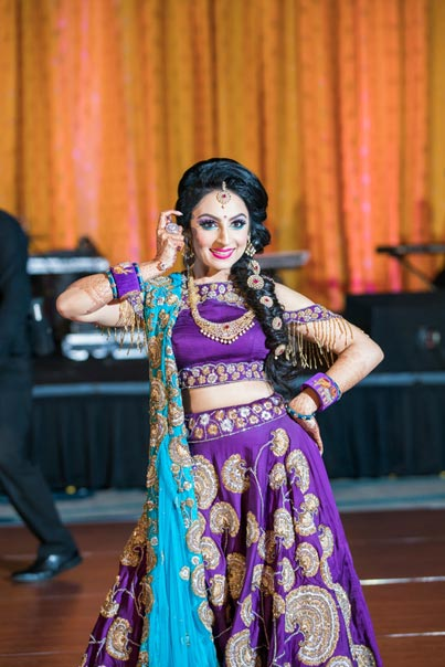 Indian Bride Dancing at her Sangeet Celebration