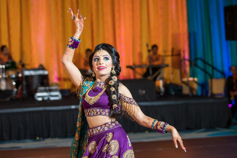 Indian Bride Doing Performance at Sangeet Party