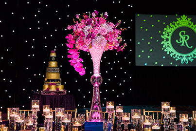 Indian Wedding Reception Table Decorations