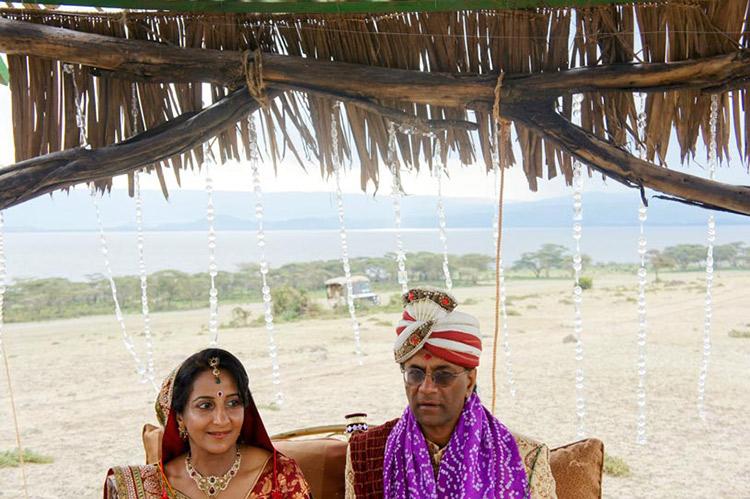 Indian Bride and Groom Wedding Portrait
