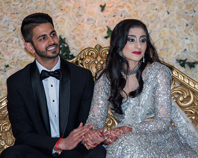Dazzling Indian Couple Reception Capture