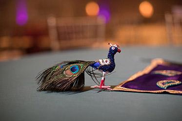 Indian Wedding Peacock Decoration