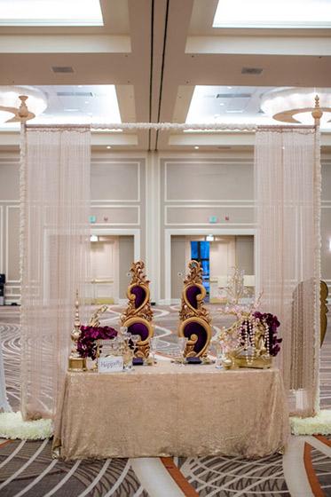 Classy Wedding Reception Entrance Decoration