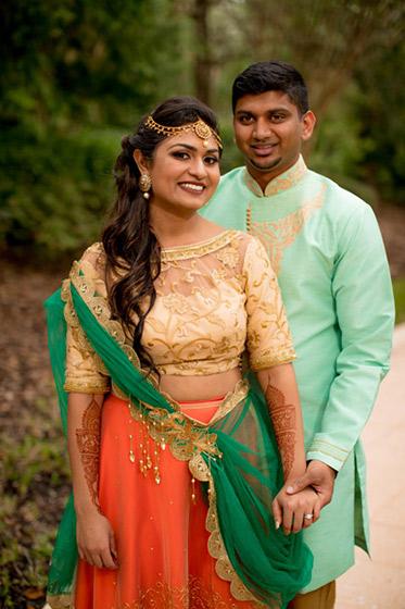 Indian Wedding Couple Outside Photoshoot