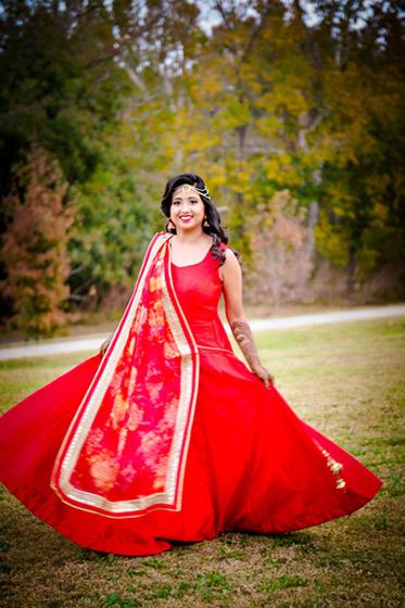 Beautiful Indian Bride Pre-Wedding Outdoor Photo Shoot