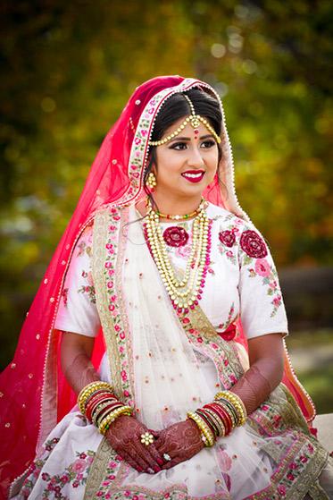 Indian Bride Glowing in her Wedding Attire