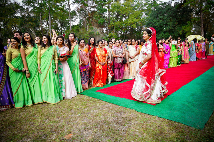 Indian Bride Welcoming Indian Groom
