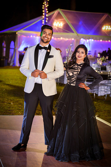 Lovely Indian Couple in Wedding Reception Outfit