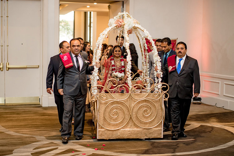 Indian Bride Entered in Doli for Wedding Ceremony