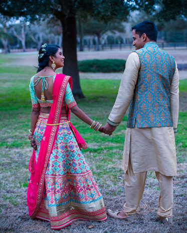 Sweet Indian Couple Looking to Each Other