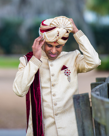 Indian Groom Get Ready for his Wedding