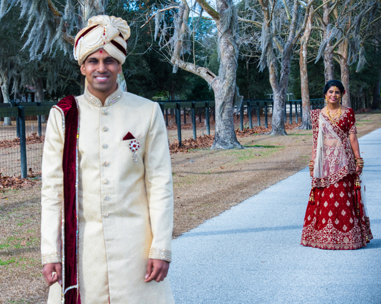 Indian Bride about to meet Indian Groom