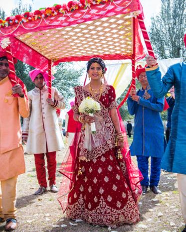 Indian Bride Making her Grand Enterance