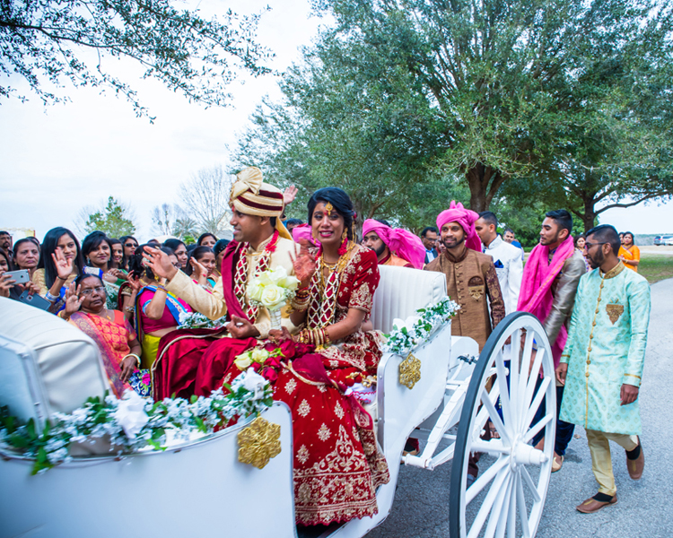 Guest Said Goodbye to Newlyweds Indian Couple
