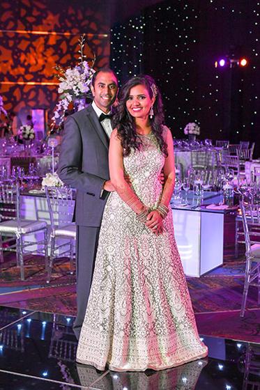 Indian Bride and Groom Reception Portrait