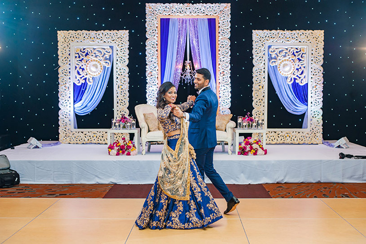 Sweet Indian Cople Dancing at their Receptiong Ceremony