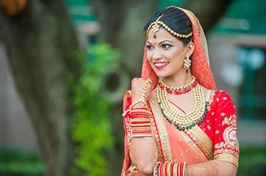 Indian Bride Outdoor Photo Shoot