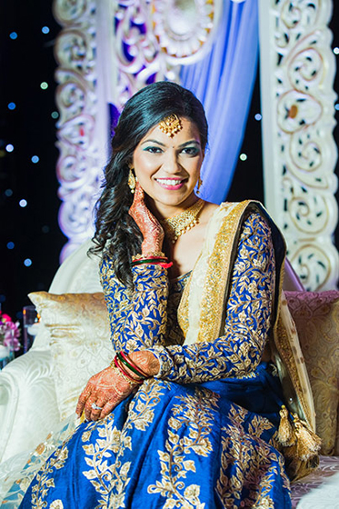 Beautiful Indian Bride Ready for Reception Capture