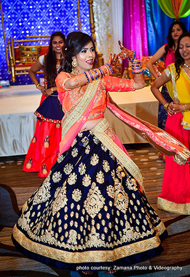 Indian Bride's Dance Performance at her Sangeet Ceremony